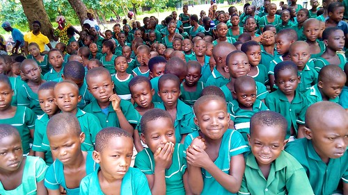 A section of Oku Catholic school pupils enjoying the day