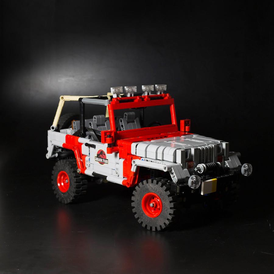 jurassic park jeep lego technic mindstorms model team. Black Bedroom Furniture Sets. Home Design Ideas