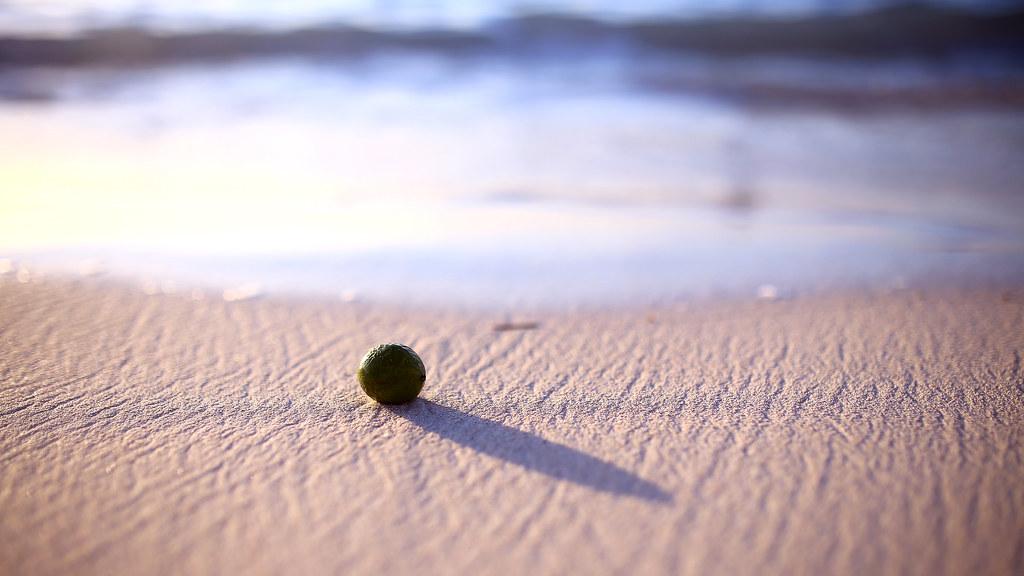 Tumon Bay, Guam, US / Sigma 35mm / Canon 6D 想起有一天晚上,夢到了一個女孩,因為夢的場景太過細膩,讓我整整一個月頭痛,只要回想夢裡發生的事情,頭就又會開始痛起來。  在沖繩的時候自己脫隊走到附近安靜的沙灘,可惜這次關島的沙灘太熱鬧了,沒辦法靜靜的想事情。  關島的沙灘,不知道從哪裡滾來一顆果實,調整好一個不要被海浪沖走、也不要離海浪太遠,一個看得到海浪,但又可以安穩的躺在沙灘上的位置、按下快門。  但,後來怎麼了?  Canon 6D Sigma 35mm F1.4 DG HSM Art IMG_9999_16x9 Photo by Toomore