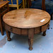 Circular Hardwood coffee table