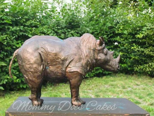 Rhino Statue Cake by Mint Mintra Sornsiri of Mommy Does Cakes