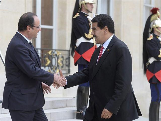 Llegada de Maduro al Palacio del Elíseo en París