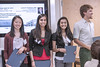 Melissa Puntkattalee, Deeti Pithadia, Niti Khambhati and Peter Schnaak (from left) earned the Peter B. Sherry Memorial Scholarship. Photo by Margeaux Comerford.