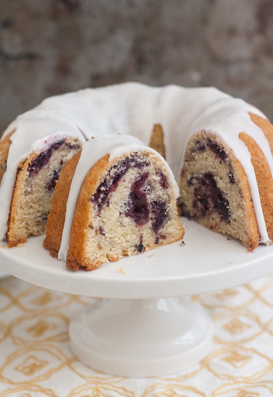 Marbled Blueberry Bundt Cake With Lemon Glaze Tracey S Culinary