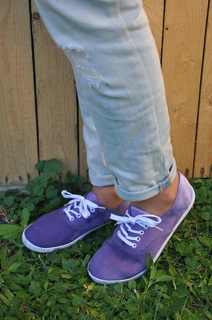 Ombre Dyed Shoes