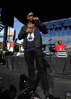 Slick Rick Wale and Doug e fresh performing at the 2013 Sunset Strip Music Festival