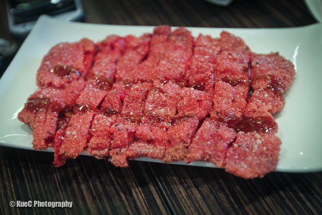 Pearl Castle: Fried red-fermented pork - 台式炸紅糟肉