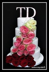 Rose Wedding Cake by Crazy Cake