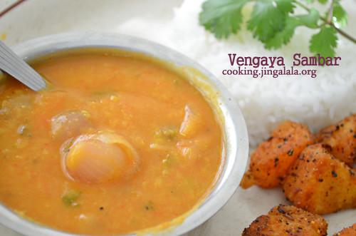 Vengayam Saambar Recipe - Step by Step