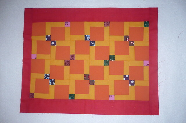 Doll Quilt - August
