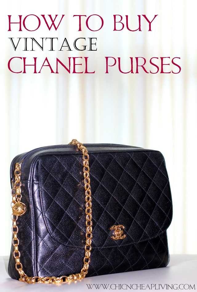 Chanel vintage camera bag full view and how to buy a vintage Chanel purse by Chic n Cheap Living