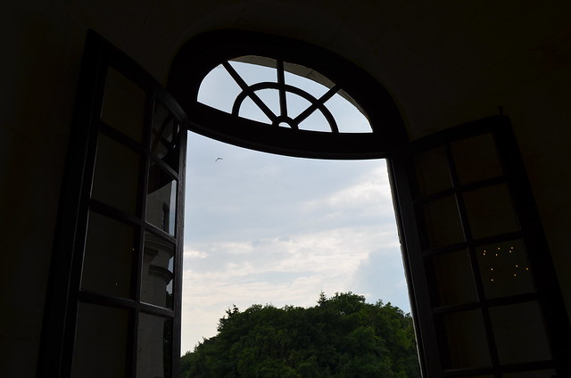 Chateau de Chenonceau window with view