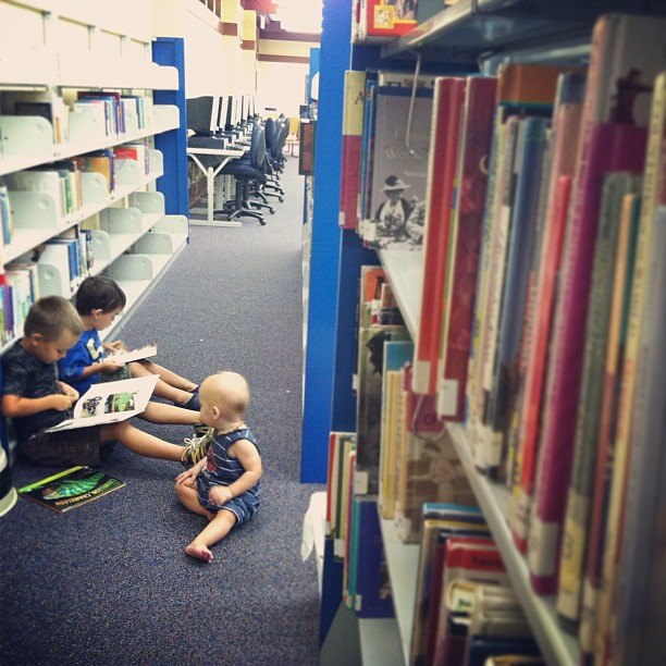 Library and boys is so cute. #homeschool #libraryfun