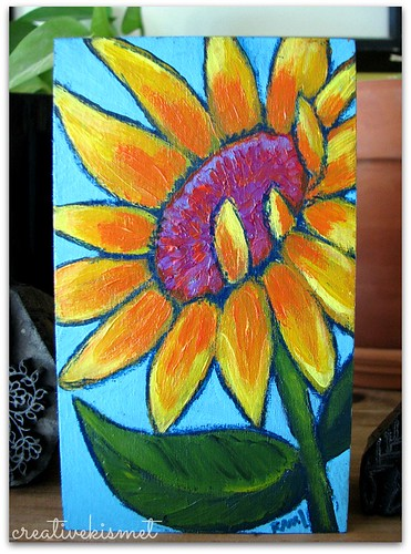 sunflower art by Regina Lord