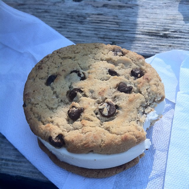 C is for Cookie...sandwich. This thing was HUGE! #food #yum