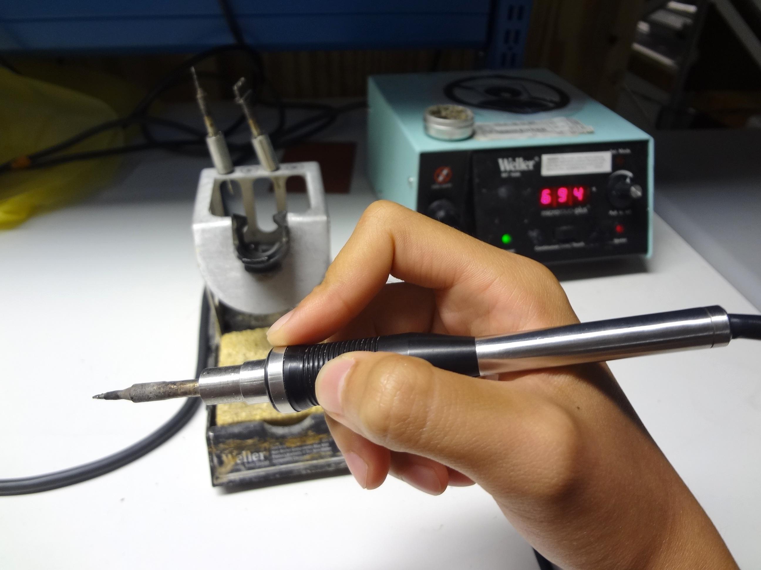 hold soldering iron