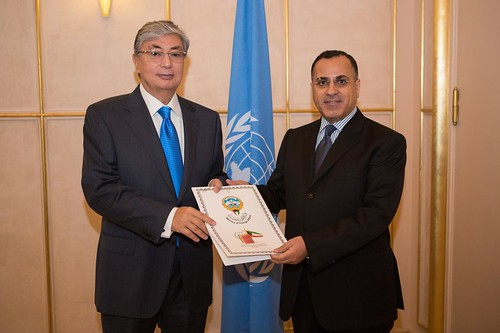 NEW PERMANENT REPRESENTATIVE OF KUWAIT PRESENTS CREDENTIALS TO DIRECTOR-GENERAL OF UNITED NATIONS OFFICE AT GENEVA