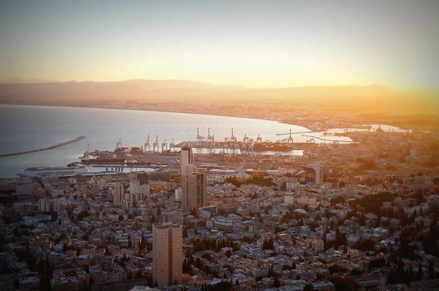 Sunset view in Haifa