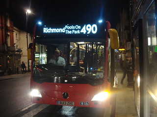 Abellio XMS1/Evobus MBK1 BU13 ZVE on Route 490, Richmond Station
