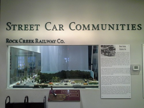 Model railroad of Rock Creek Railway street cars