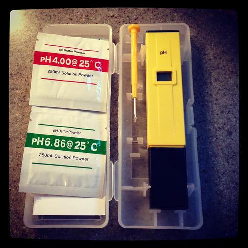 pH meter and buffer solutions