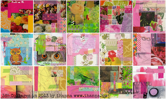 Some very pink Collages by iHanna of www.ihanna.nu