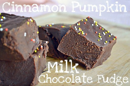Cinnamon Pumpkin Milk Chocolate Fudge
