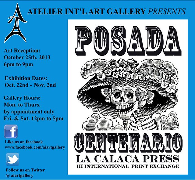 """POSADA CENTENARIO"" La Calaca Press III International Print Exchange"