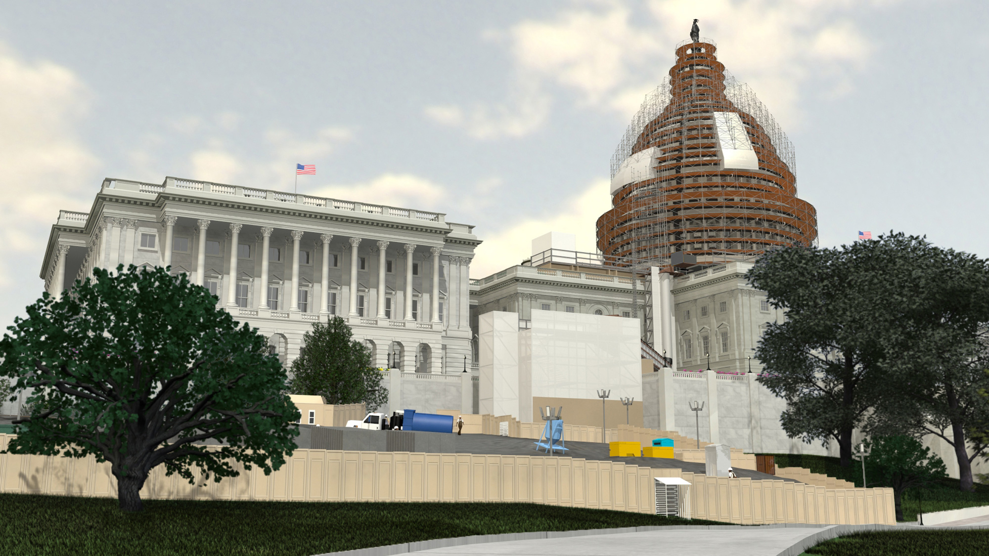 Rendering of the Dome Restoration Project