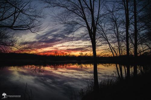 winter sunset reflection nikon glow kinston d600 afterlight