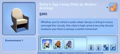 Batty's Egg Living Chair by Modern Arcology