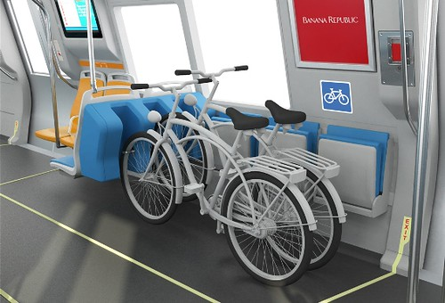 New bicycle rack on the BART transit system