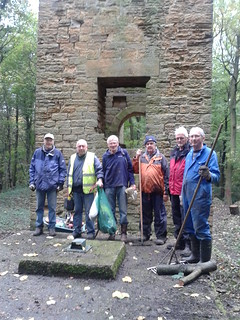 Rockley Furnace and Engine House Clear up by Rotary Club of Barnsley Rockley
