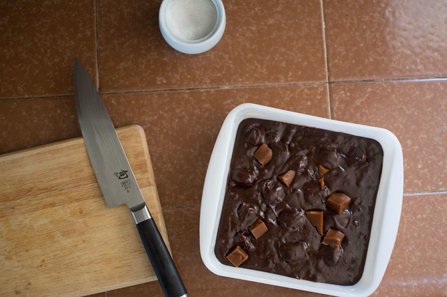 caramel brownies, again
