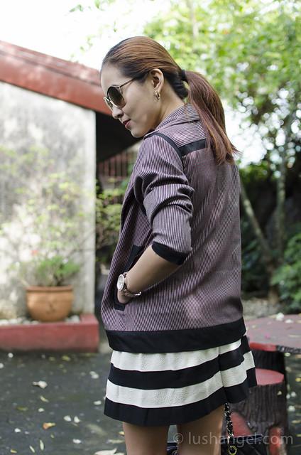 black-and-white-stripes-skirt