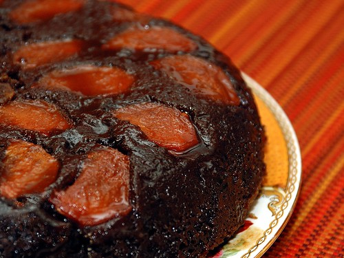 Persimmon skillet cake