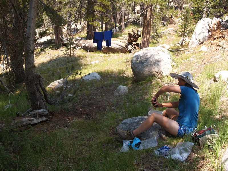 Doing the back-country laundry the hard way in Matterhorn Canyon