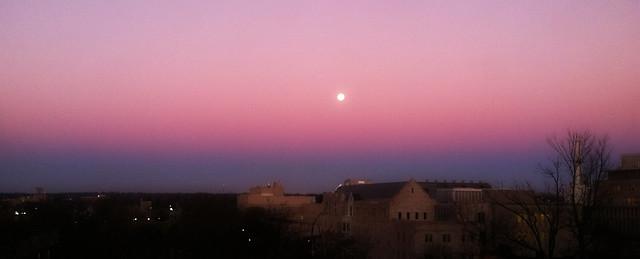 Moon in the Belt of Venus