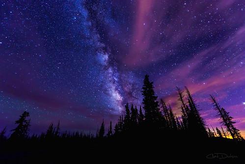 light sunset sky cloud inspiration southwest west tree beauty silhouette pine landscape utah twilight exposure nightscape dusk astronomy nationalmonument milkyway cedarbreaks passinghours chaddutson