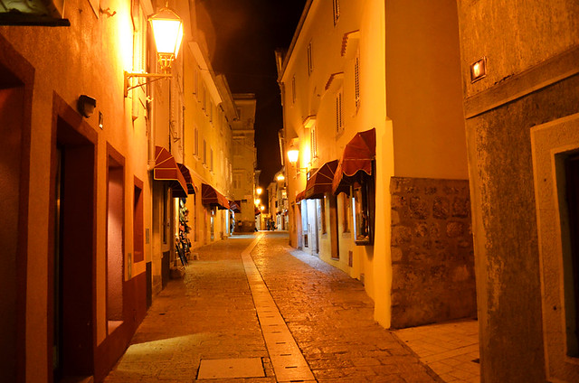 Krk at Night, Croatia