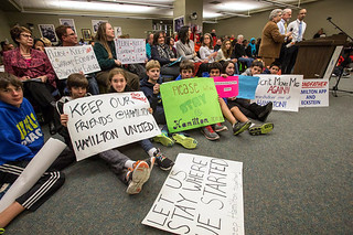 Courtesy of the Seattle Times:  Me and My Colleagues and Hamilton MS Kids at the School Board Meeting, 11.20.13