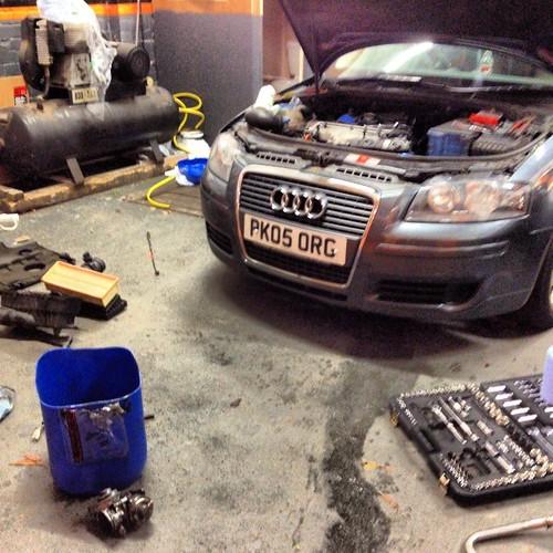 EGR valve cleaning turnin into a big job. Lol