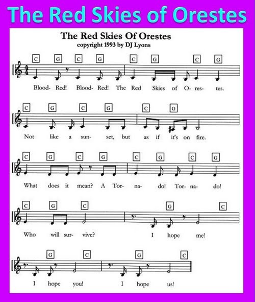 Song by DJ Lyons aka Debbie Dunn: The Red Skies of Orestes