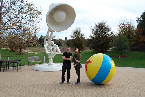 Frances and me at Pixar
