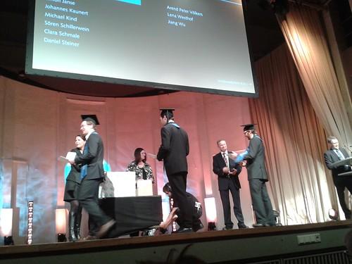 Absolventen- und Promotionsfeier der Technischen Universität Hamburg-Harburg im November 2013