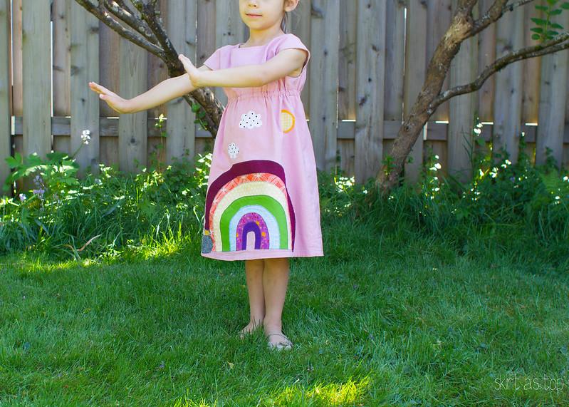 rainbow rollerskate dress