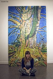 193/365 days project - 10/12/2013 [the girl and the tree painting]   ( painting by : Ricardo Cavallo )