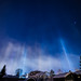 Interesting how -26 Celcius this morning ( Dec 11 )  effects lights - like beams going straight up by Markus J Clement
