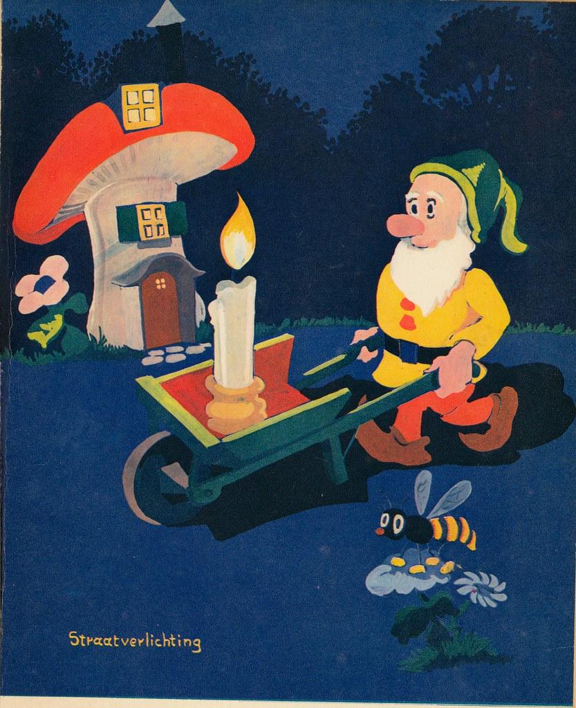 Na 4 uur- 1939 kleurillustratie   5 straatverlichting