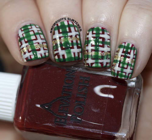 Christmas Plaid Nail art (4)